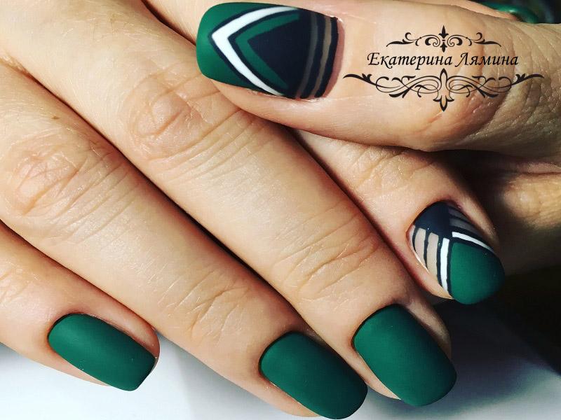 зелёный темный матовый с геометрией
