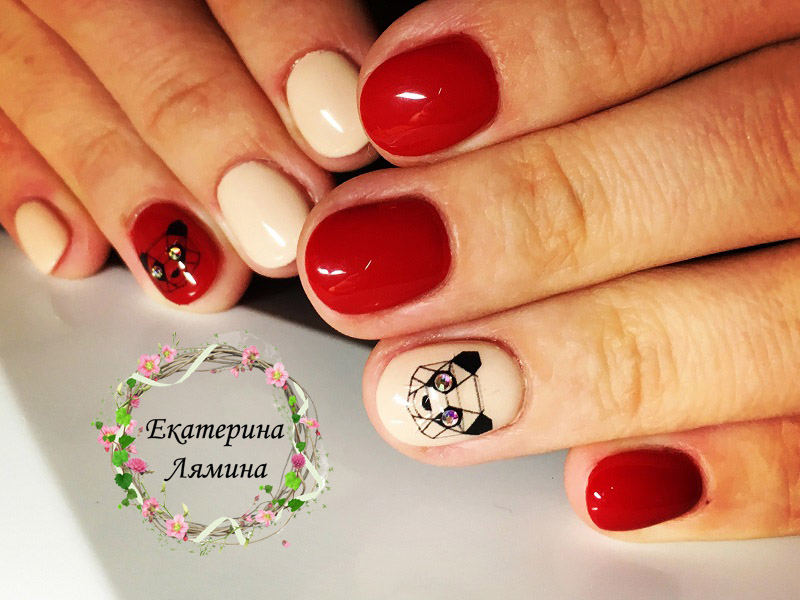 красный с пандами