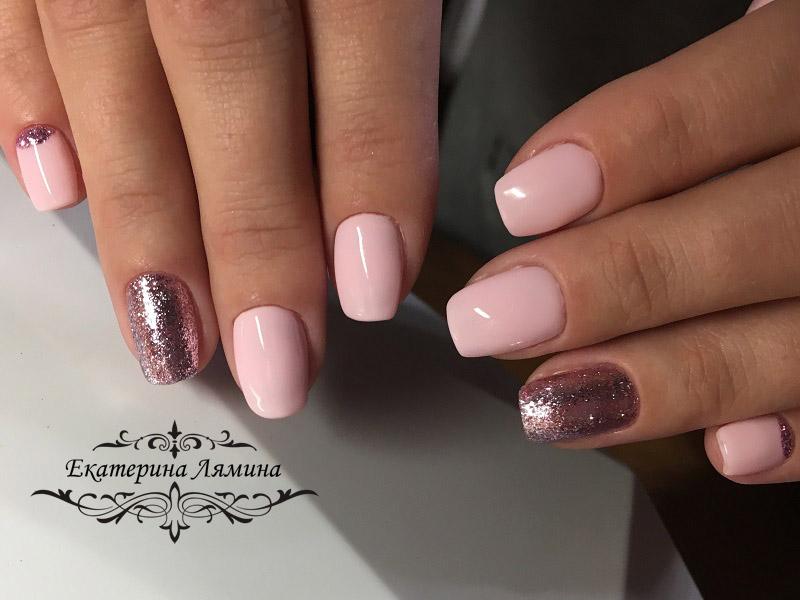 розовый с лункой и слюдой