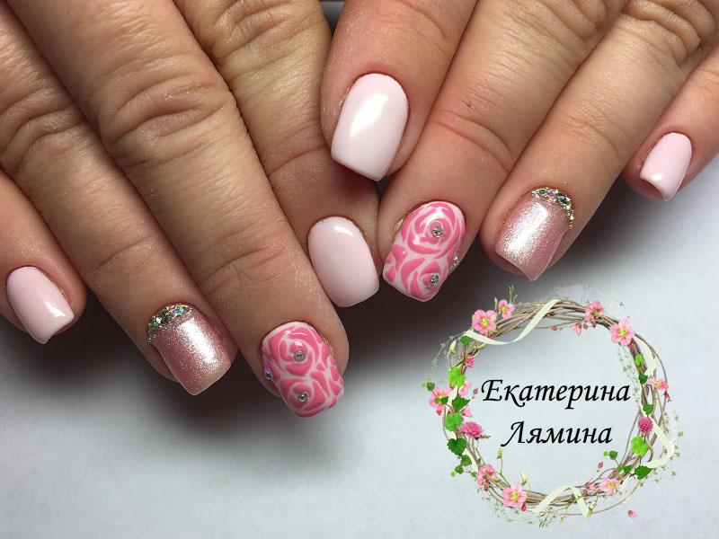 сочетание различных розовых оттенков