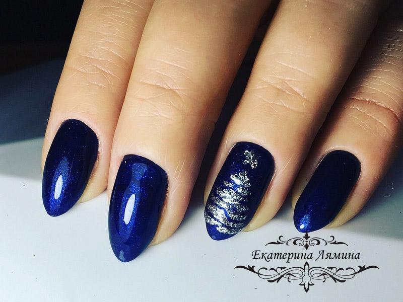 супер синий с микроблеском новогодний 2